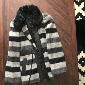FCUK French Connection Faux Fur Coat 6